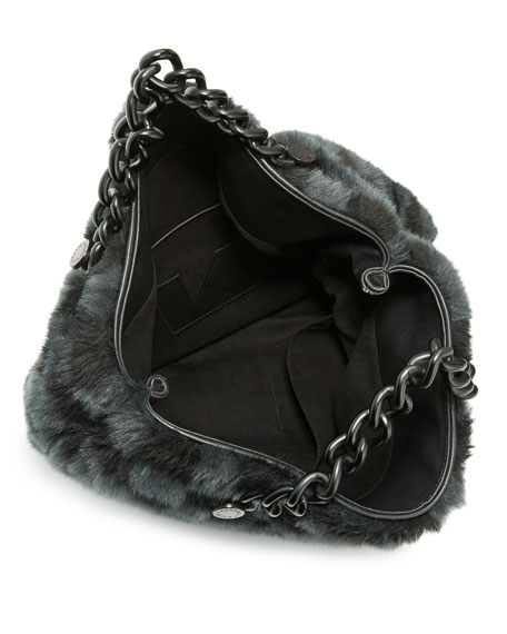 Van Faux-Fur Large Clutch Bag