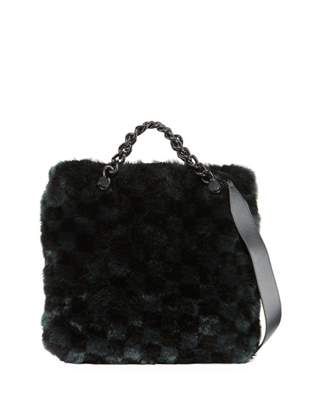 Kendall + Kylie Van Faux-Fur Large Clutch Bag