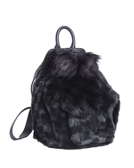 Kendall + Kylie Koenji Faux-Fur Zip Backpack
