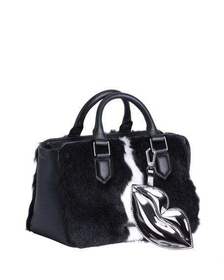 Kendall + Kylie Claire Faux-Fur Satchel Bag