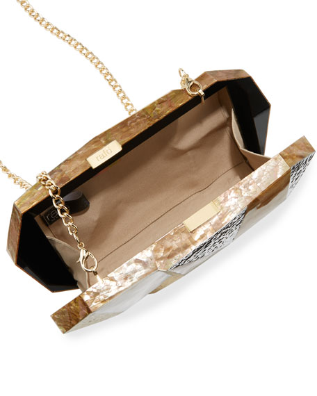 Image 2 of 3: Vivienne Faceted Minaudiere Bag