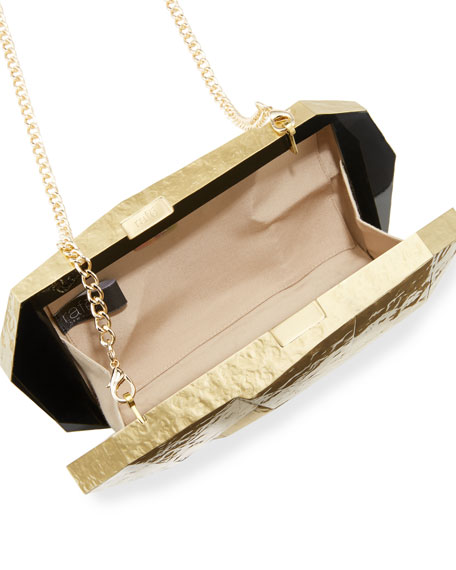 Vivienne Faceted Minaudiere, Gold