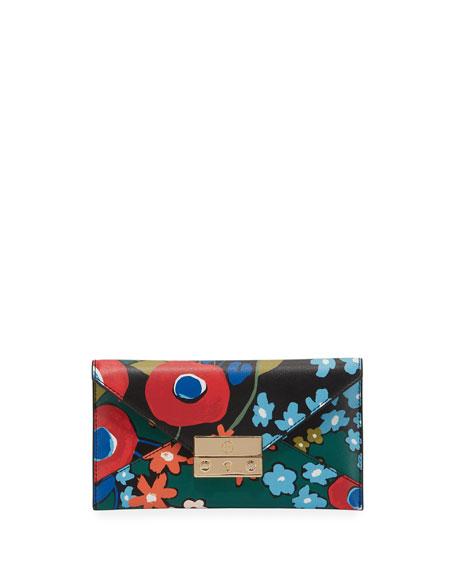 Tory Burch Juliette Printed Envelope Wallet, Darling Floral