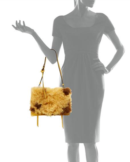 Large Shearling Fur Flap Shoulder Bag