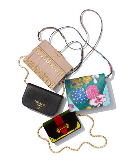 Small Saffiano Fringe Crossbody Bag