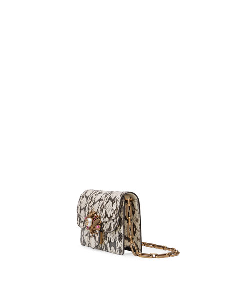 Broadway Small Snakeskin Shoulder Bag