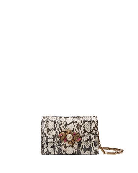 Gucci Broadway Small Snakeskin Shoulder Bag