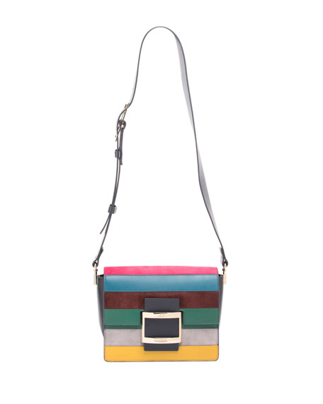 Viv Cabas Mini Striped Crossbody Bag