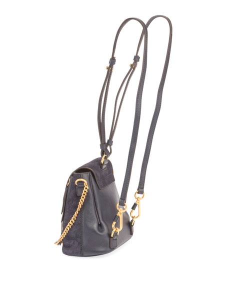 Faye Mini Studded Leather/Suede Backpack