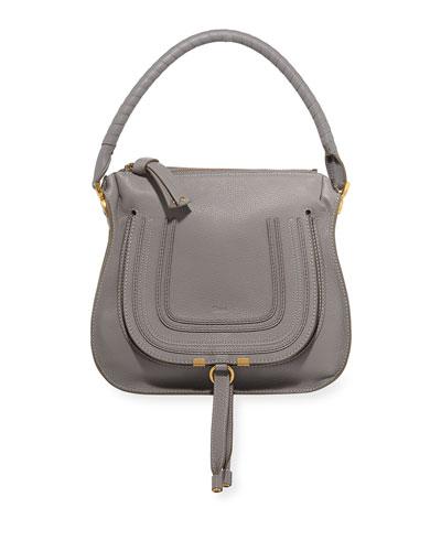 Marcie Medium Leather Hobo Bag
