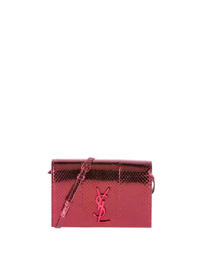 Kate Toy Monogram Snakeskin Wallet on Crossbody Strap