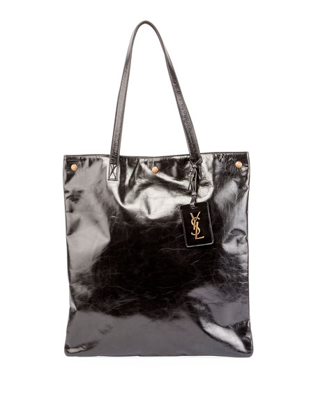 Fetiche Large Patent Shoulder Tote Bag
