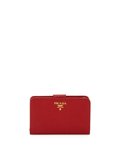 Saffiano Triangle Bi-Fold Tab Wallet