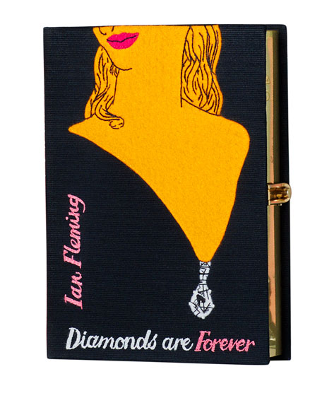 Diamonds Are Forever Book Clutch Bag