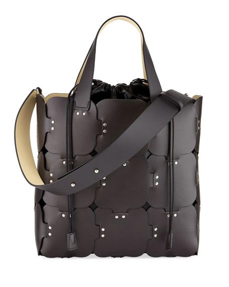 16#01 Cabas Medium Studded Patchwork Tote Bag