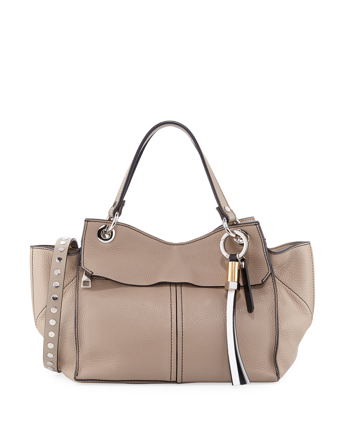 Curl Pebbled Leather Top Handle Bag