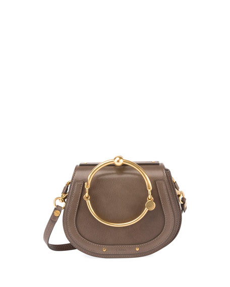 Nile Small Leather/Suede Bracelet Crossbody Bag