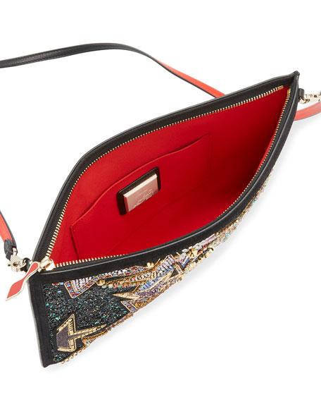 Loubiclutch  Star Beaded Clutch Bag