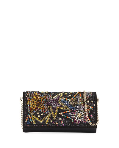 Boudoir Piste aux Etoiles Beaded Wallet on Chain