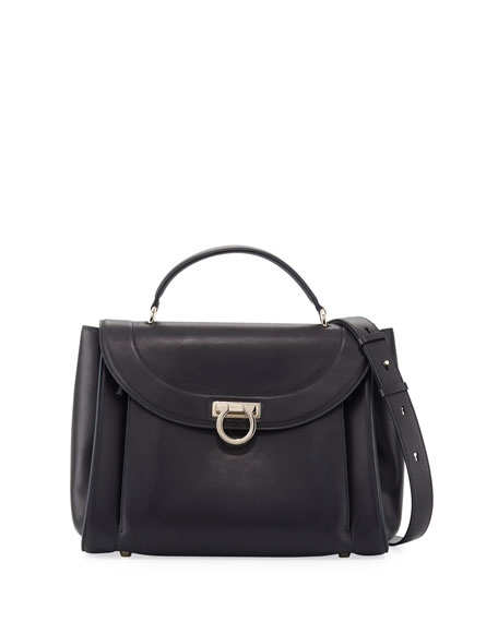 Salvatore Ferragamo Medium Rainbow Top-Handle Bag