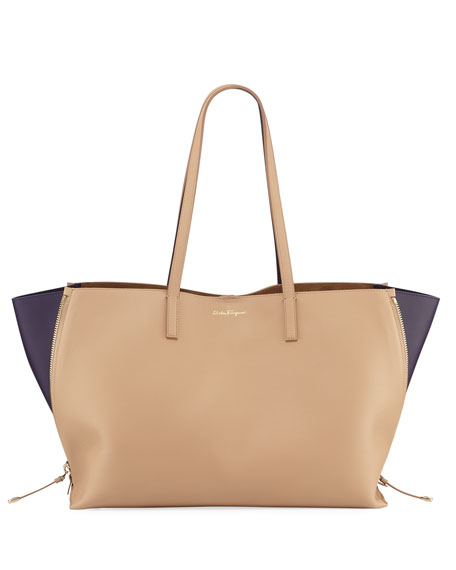 Salvatore Ferragamo Large Jet Set Shoulder Tote Bag