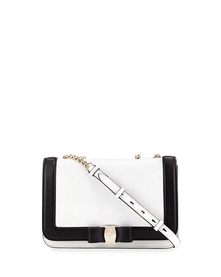 Salvatore Ferragamo Medium Vara Two-Tone Shoulder Bag