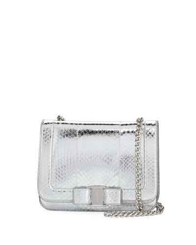 Small Vara Rainbow Snakeskin Shoulder Bag
