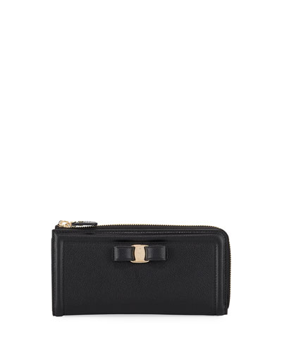 Zip-Around Gancio Wallet, Black