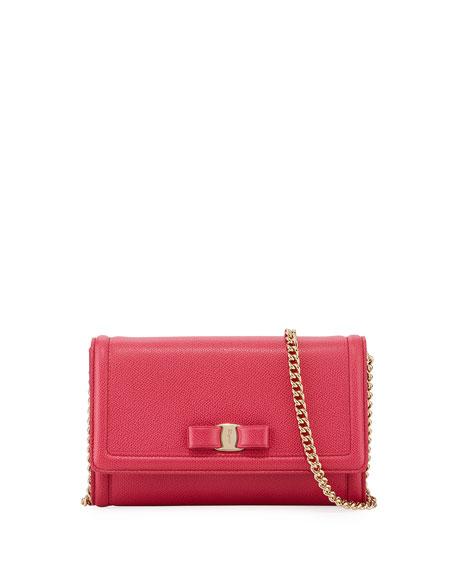Salvatore Ferragamo Mini Crossbody Clutch Bag, Red