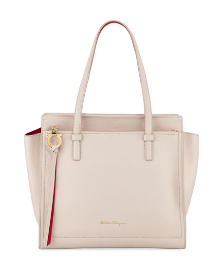 Salvatore Ferragamo Medium Amy Leather Double-Face Tote Bag