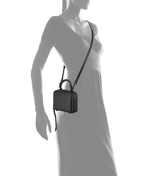 Leather Box Crossbody Bag, Black