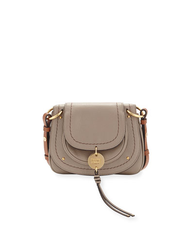 Small Coin Leather Flap Saddle Bag