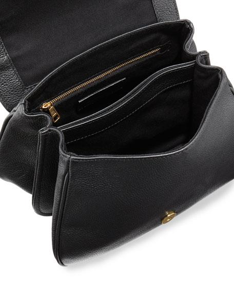Medium Leather Flap Shoulder Bag