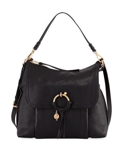 Large Ring Leather Shoulder Bag