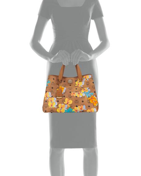 Essential Floral-Print Coated Tote Bag