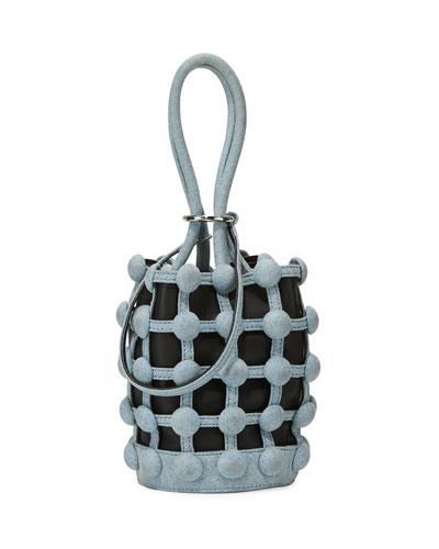 Roxy Denim Caged Mini Bucket Bag
