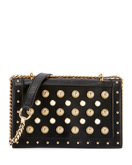 Pearlescent and Stud Flap Bag