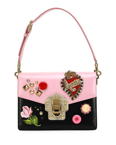 Lucia Vintage Embellished Shoulder Bag