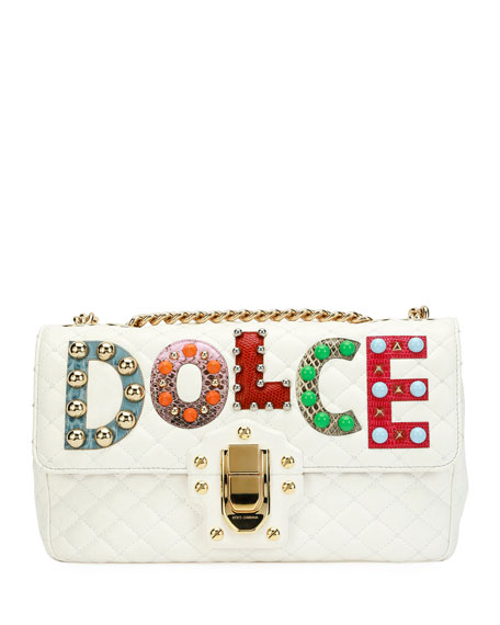 Dolce & Gabbana Lucia Dolce Patch Napa Leather