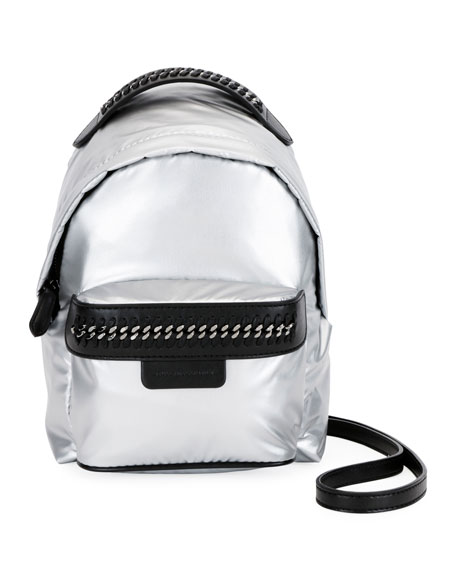 Stella McCartney Falabella Metallic Nylon Mini Backpack