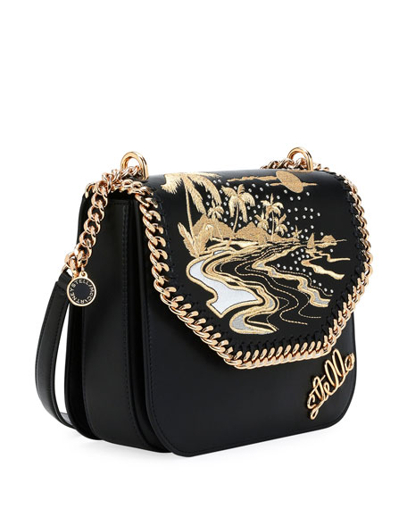 Falabella Hawaiian Embroidered Shoulder Bag