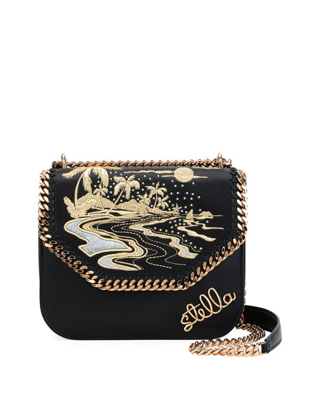 Stella McCartney Falabella Hawaiian Embroidered Shoulder Bag