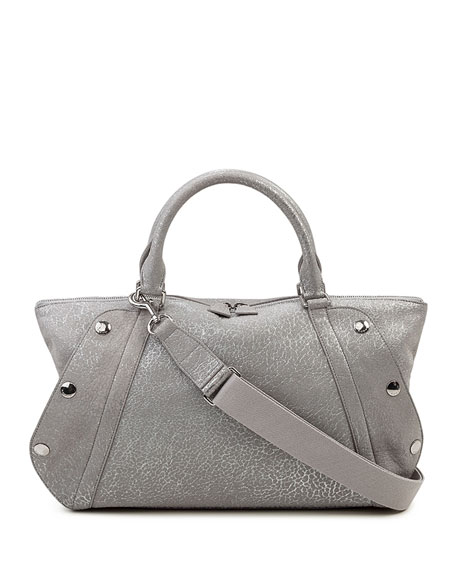 Akris Aimee Small Convertible Washed Calf Leather Satchel