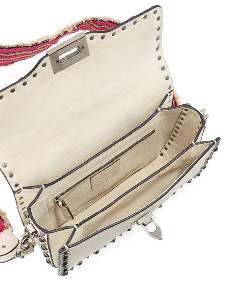 Guitar Rockstud Rolling Noir Shoulder Bag