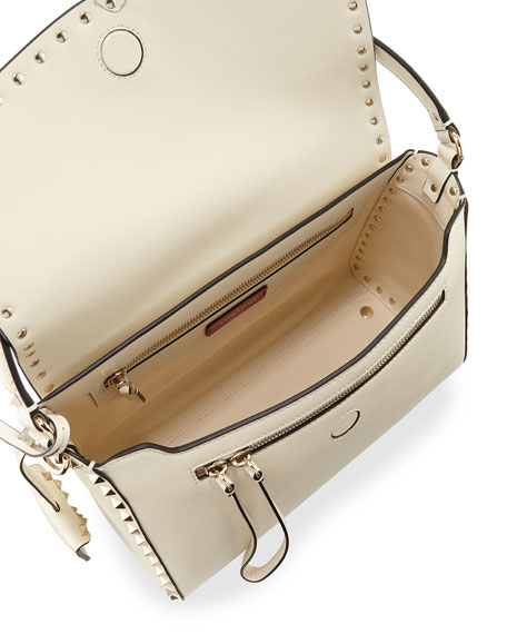 Rockstud Smooth Leather Top-Handle Bag
