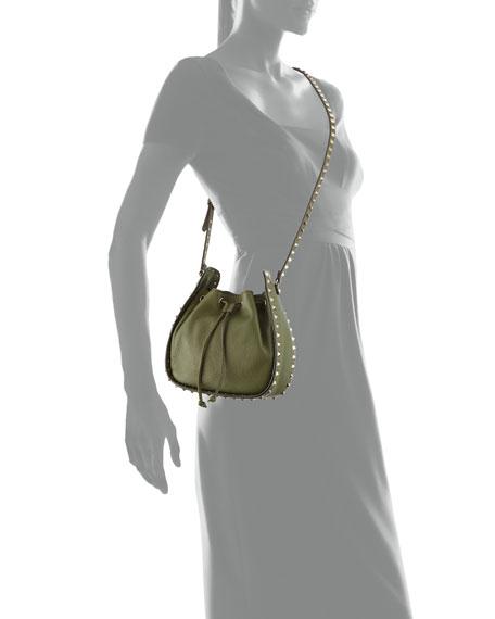 Rockstud Small Leather Bucket Bag