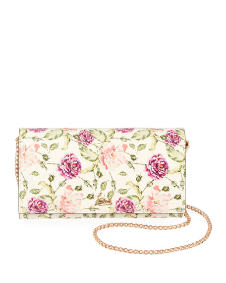 Christian Louboutin Boudoir Watersnake Fiori Wallet on a