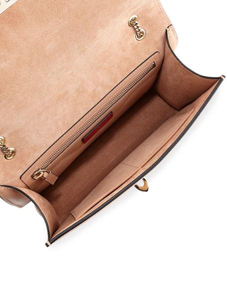Demilune Flowers Vitello Shoulder Bag