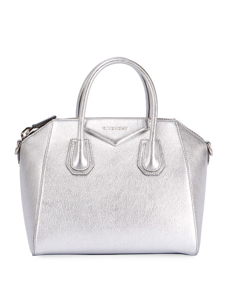Givenchy Antigona Small Metallic Leather Satchel Bag