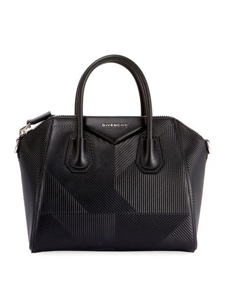 Givenchy Antigona Small Embossed Leather Satchel Bag